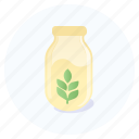 beverage, bottle, drink, milk, oat, vegan, vegetarian icon