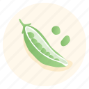 bean, greens, leguminous, peas, vegan, vegetable, veggies icon