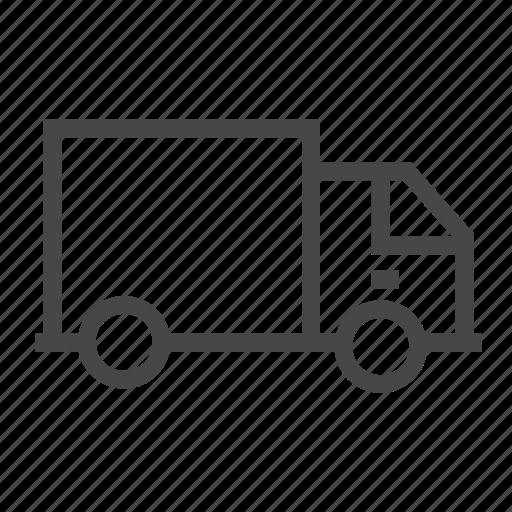 lorry, truck, vehicle icon