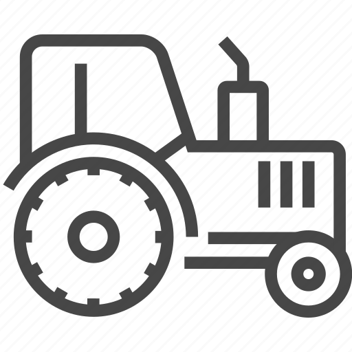 farm, tractor, vehicle icon