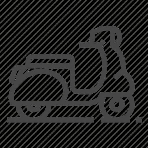 Vespa, motorbike, moped, vehicle icon