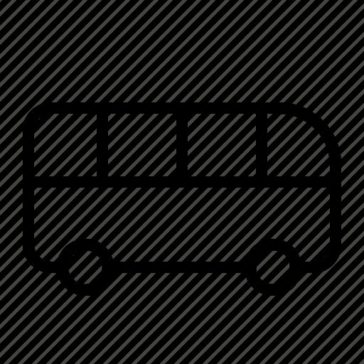 bus, transportation, traveling, vehicle icon