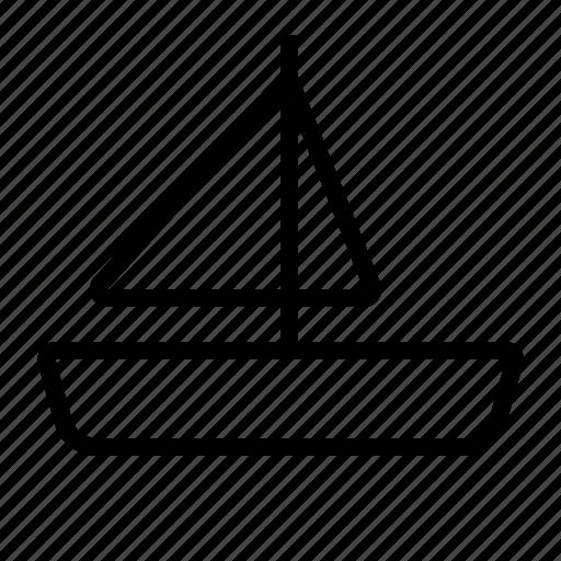 Sail, sailing, ship, transportation, vehicle icon - Download on Iconfinder