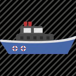 boat, navy, sea, transportation, vehicle, war, water icon