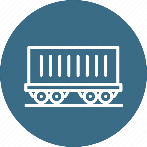 carriage, coach, railway, track, train, transport, travel icon