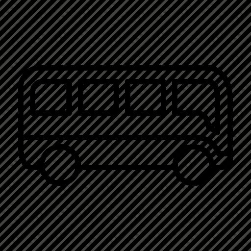 bus, engine, machine, transportation, travel, vacation, vehicle icon