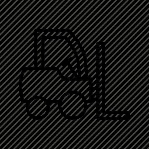 engine, forklift, lifting, machine, transportation, vehicle, working icon