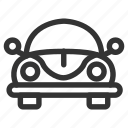 auto, car, garage, outline, transport, vahicle icon