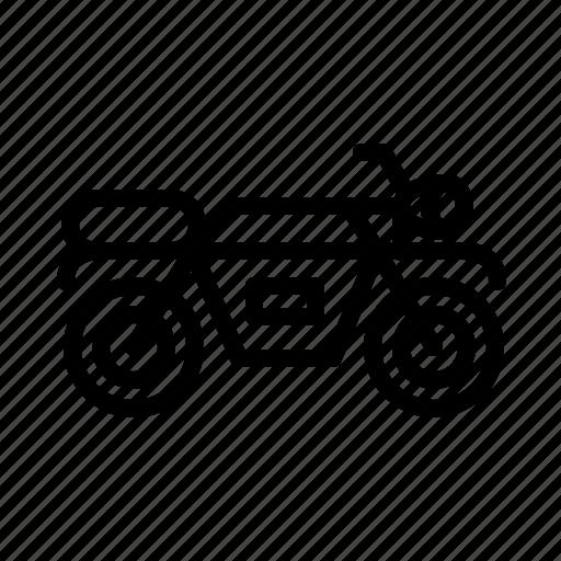 bike, motorocycle, transport, travel, vehicle icon