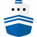boat, cruise, ship, transportation, travel, vehicle, water transport icon