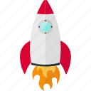 launch, rocket, rocketship, ship, travel, vehicles icon