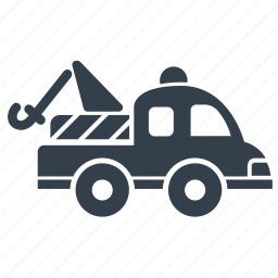 tow, tow truck, vehicle icon