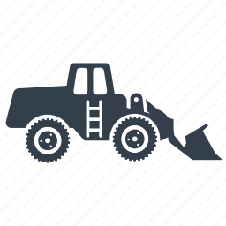 dig, earthmover, excavate, excavator, front end loader icon