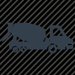 cement mixer, cement truck, concrete, construction, mixer, truck, vehicle icon