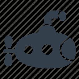 explore, ocean, sea, submarine, submersible, underwater, vehicle icon