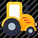farming, tractor, vehicle, village