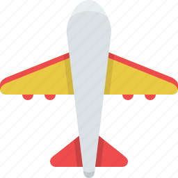 air transport, airplane, flight, fly, plane, sky, travel icon