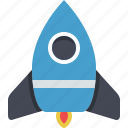 exploration, explore, fly, space, spaceship, startup icon