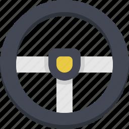 control, drive, driver, steer, steering, steering sheel icon