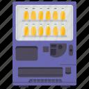 automated machine, coin machine, kiosk machine, soda machine, vending machine icon