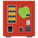 apple juice, automated machine, coin machine, kiosk machine, vending machine icon