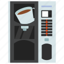 automated machine, coffee dispenser, coffee vending, kiosk machine, vending machine icon