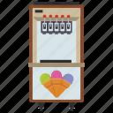 automated machine, coin machine, ice cream machine, kiosk machine, vending machine icon