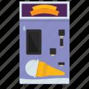 automated machine, cone machine, food machine, kiosk machine, vending machine icon