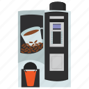 automated machine, cappuccino dispenser, coffee vending, kiosk machine, vending machine icon