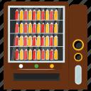 automated machine, coin machine, juice vendor, kiosk machine, vending machine icon