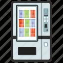 automated machine, coin machine, food vending, kiosk machine, vending machine icon