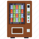 automated machine, food machine, frozen vending, kiosk machine, vending machine icon