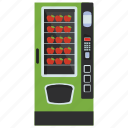 apple machine, automated machine, coin machine, kiosk machine, vending machine icon