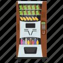 automated machine, drinks machine, kiosk machine, soft drinks, vending machine icon