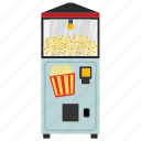 automated machine, coin machine, kiosk machine, popcorn machine, vending machine icon