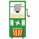 automated machine, coin machine, kiosk machine, popcorns machine, vending machine icon