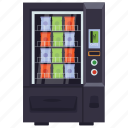 card vending, coin machine, food dispenser, kiosk machine, vending machine icon