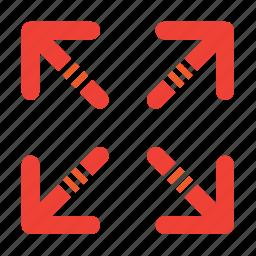 arrow, arrows, expand icon