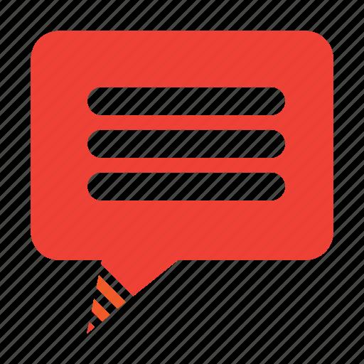 article, bubble, comment, text icon