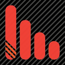 down, graph icon