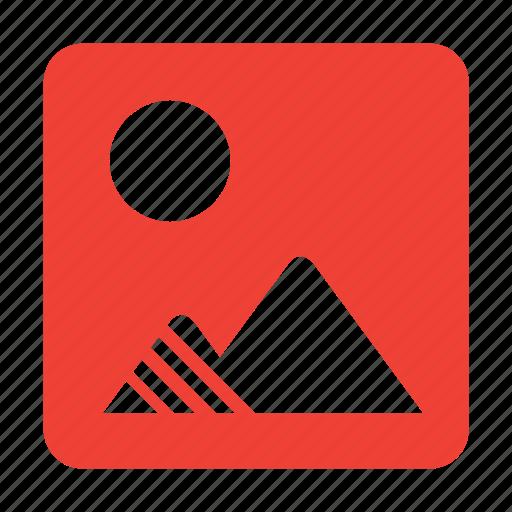 image, mountains icon