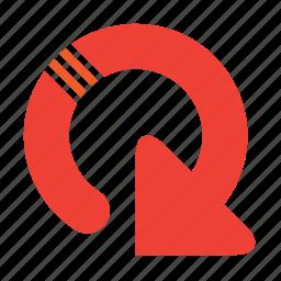 arrow, refresh, round icon