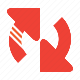 arrows, refresh, round, two icon