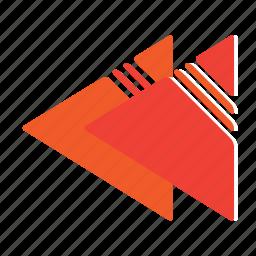 rectangle, rewind icon