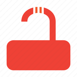 no, privacy, unlock icon