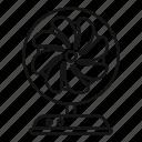 conditioning, fan, hot, metal, room, summer, turbine