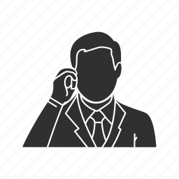 calling, chat, conversation, man talking on the phone, phone, talk, telephone icon