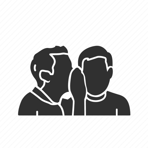 chat, coversation, gossip, men gossip, secret, talking, whisper icon