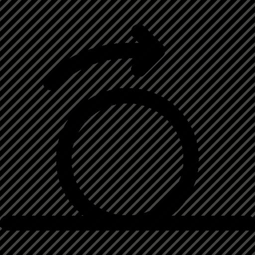 ball, inertia, motion, movement, rolling, sphere icon