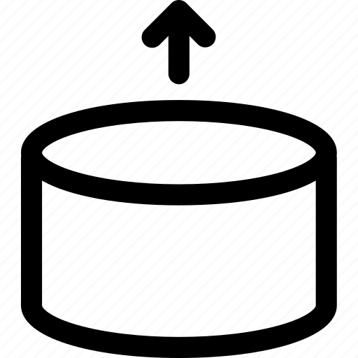 cylinder, empty, lift, move, reveal, uplift icon